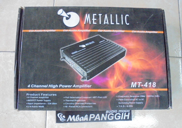 power 4 channel metalic mt 418