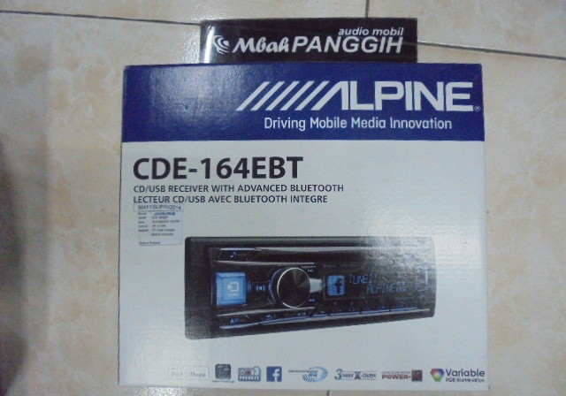 single din alpine cde 164ebt