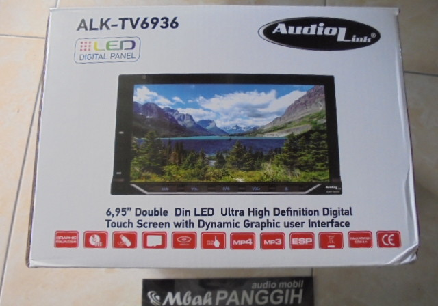 double din audiolink alk-tv6936