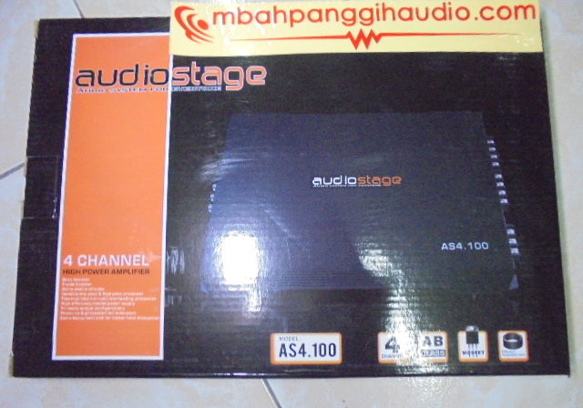 power 4 channel audiostage as4.100